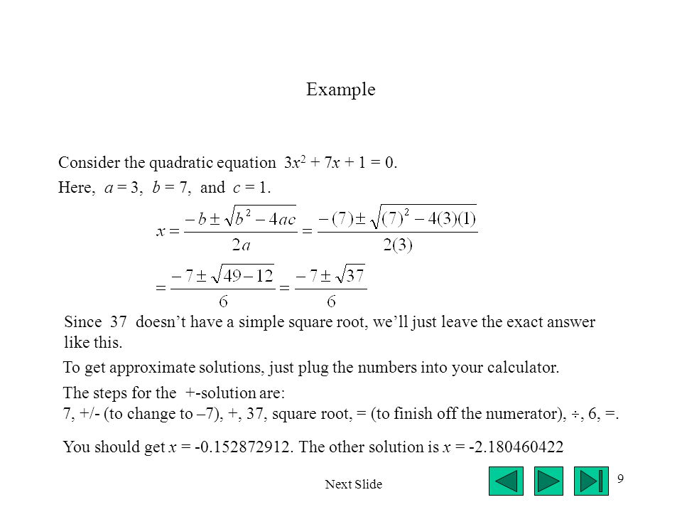 20 Example (cont.) The second solution is between x =.3 and.5.