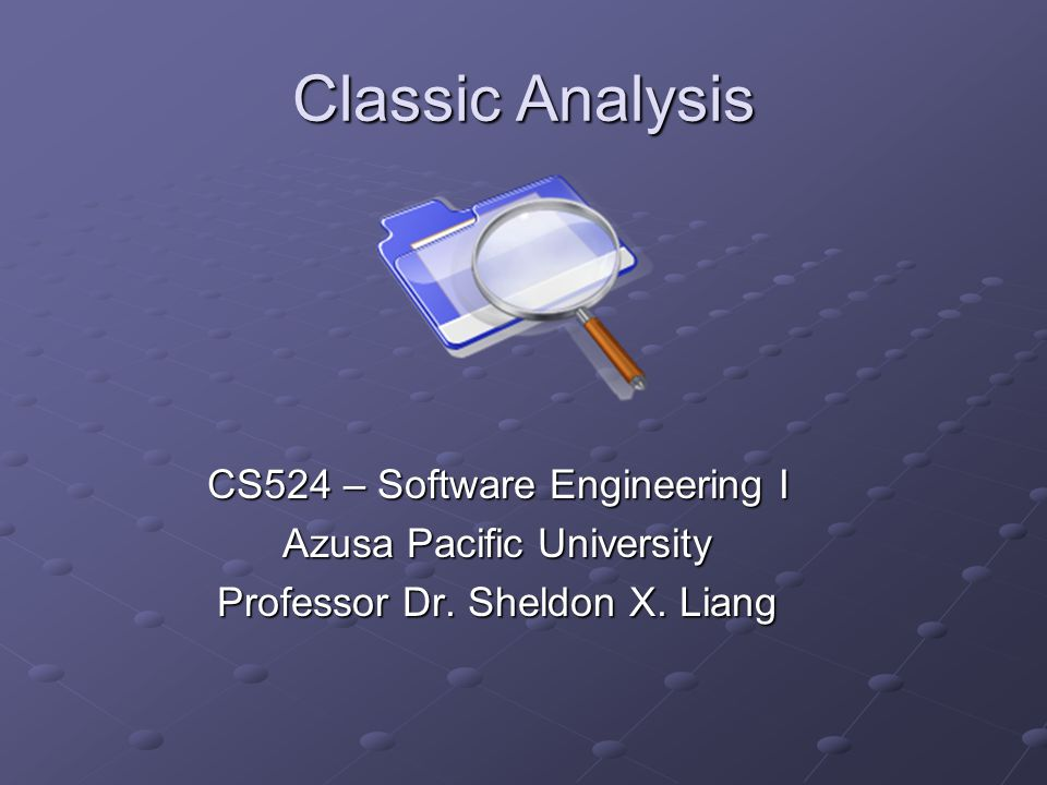 Classical design References: Structured Analysis and System Specification – Tom Demarco Structured Design: Fundamentals of a Discipline of Computer Program and System Design – Edward Yourdon Object-Oriented & Classical Software Engineering – Stephen R.