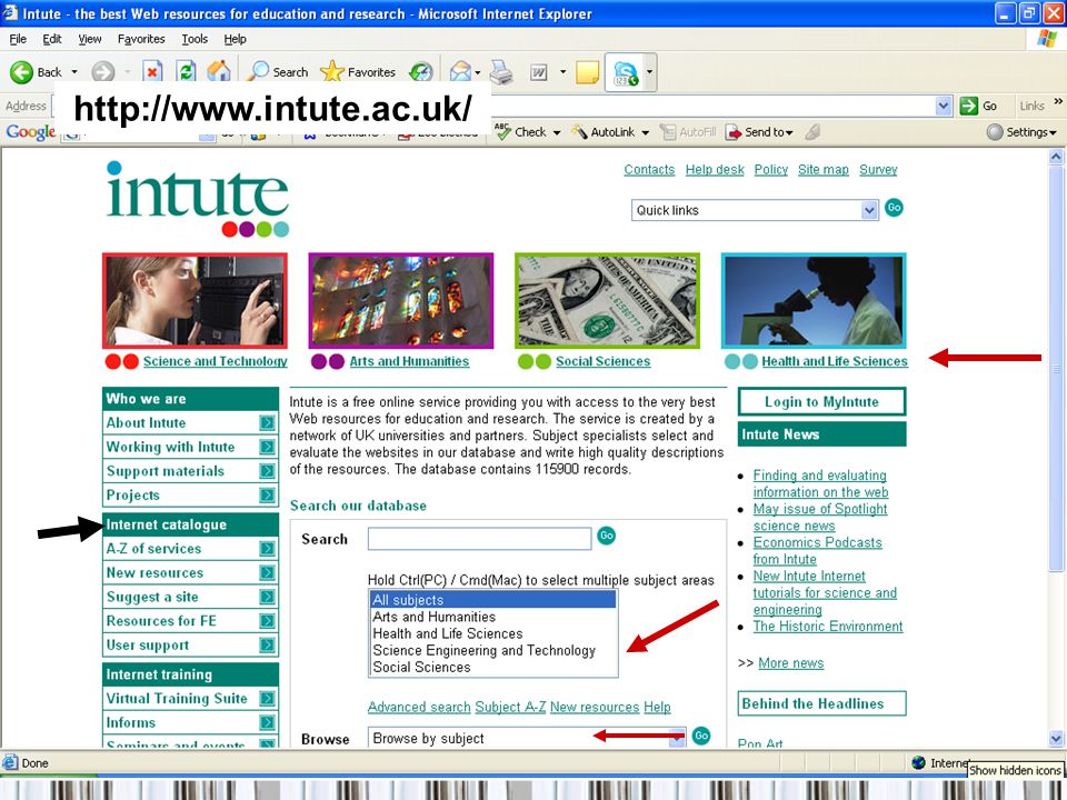 http://www.intute.ac.uk/