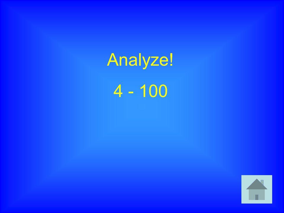 Analyze! 4 - 100