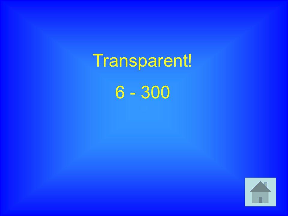 Transparent! 6 - 300