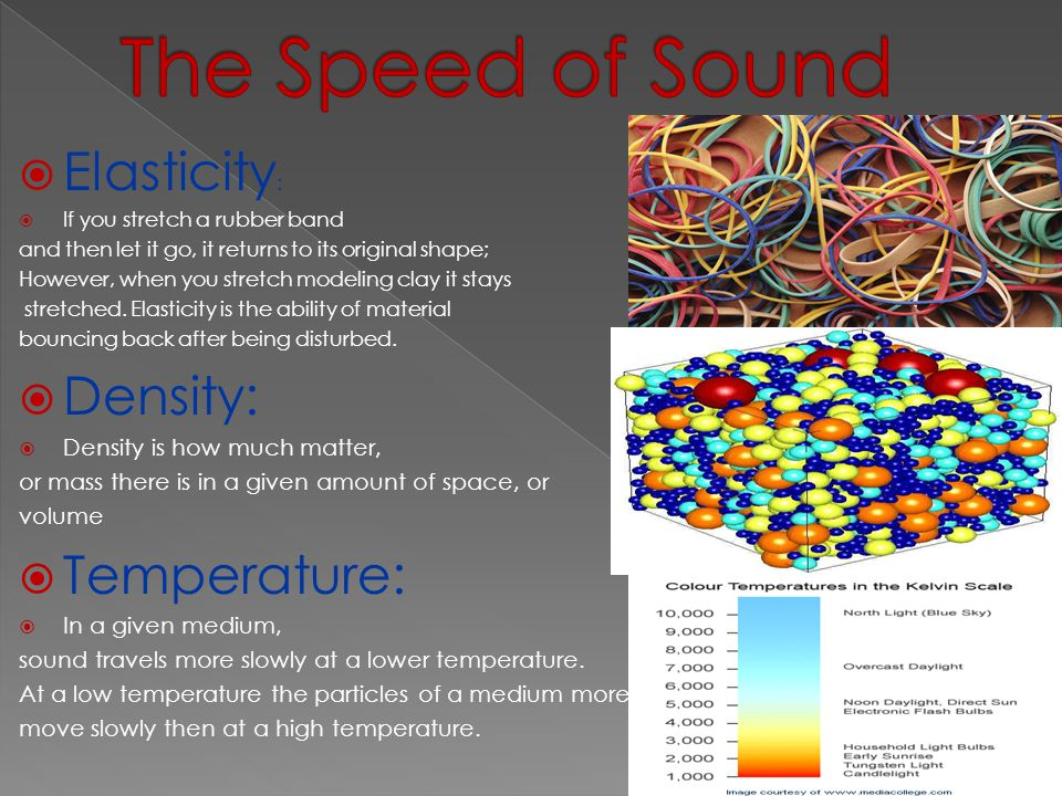  Energy of a Sound Wave:  In general, the greater the energy used  to make the sound, the louder the sound.