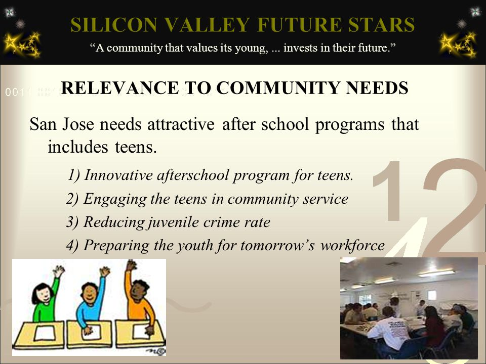 A community that values its young,...