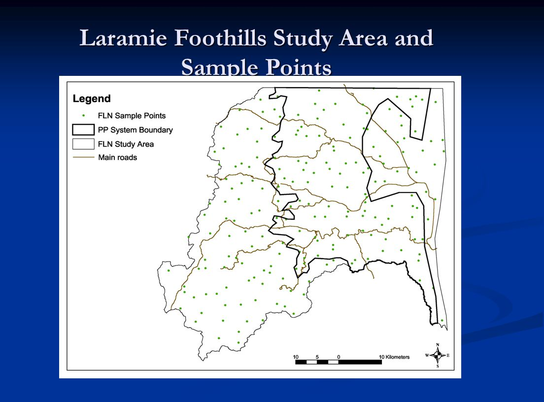 Laramie Foothills Study Area and Sample Points