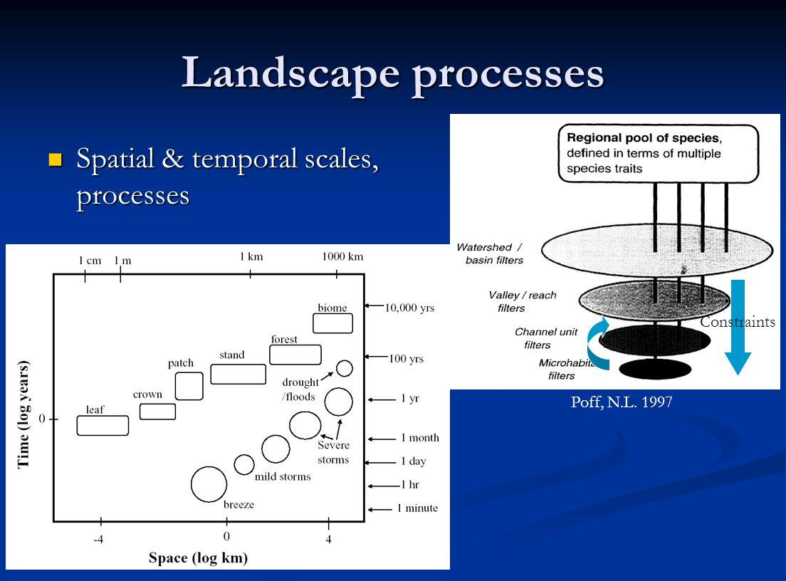 Landscape processes Spatial & temporal scales, processes Spatial & temporal scales, processes Poff, N.L.