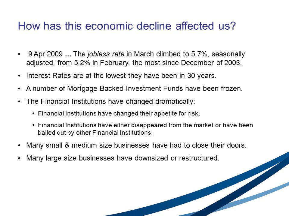 How has this economic decline affected us. 9 Apr 2009...