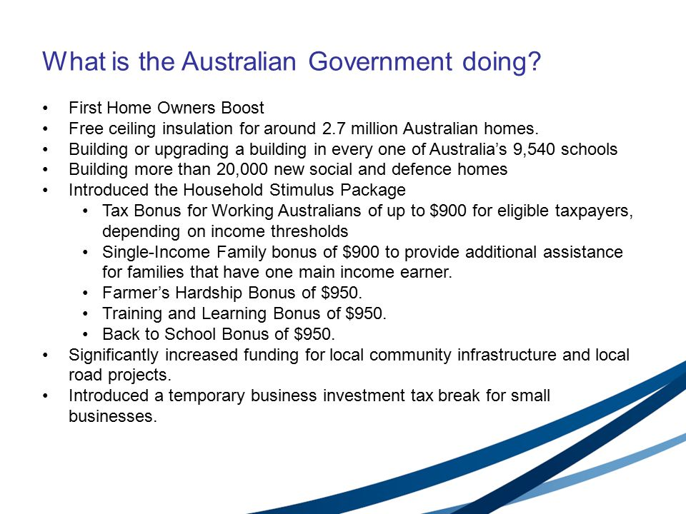 What is the Australian Government doing.