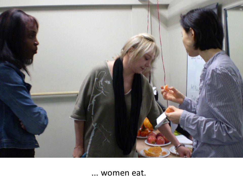 ... women eat.