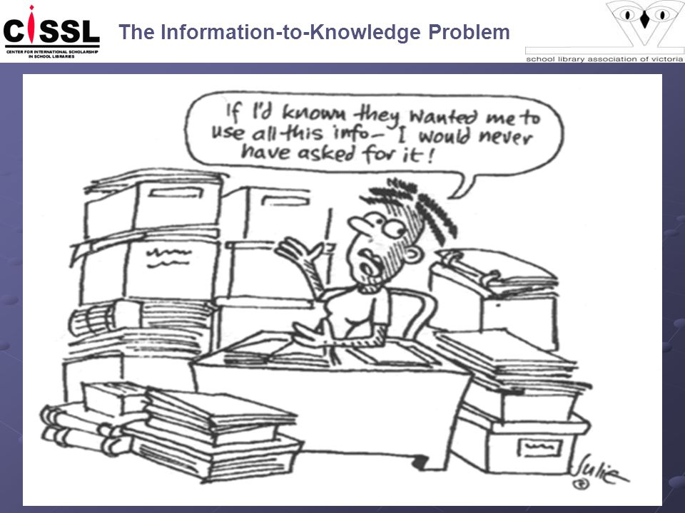 The Information-to-Knowledge Problem