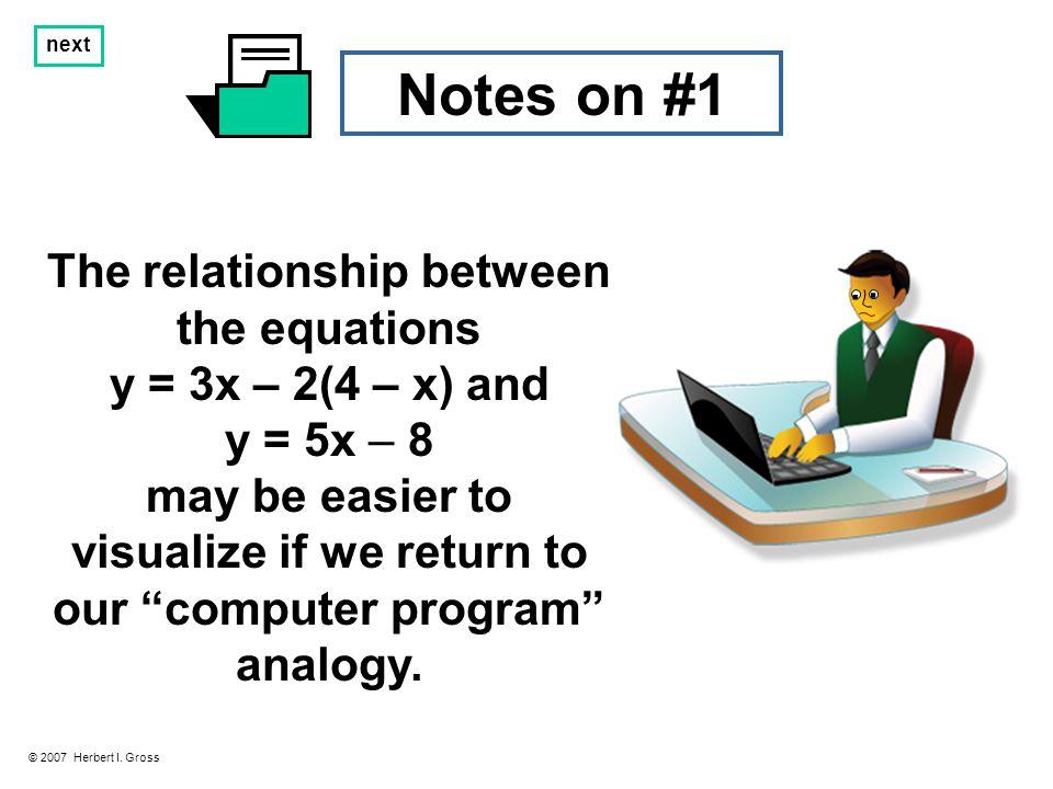 Notes on #2 © 2007 Herbert I.