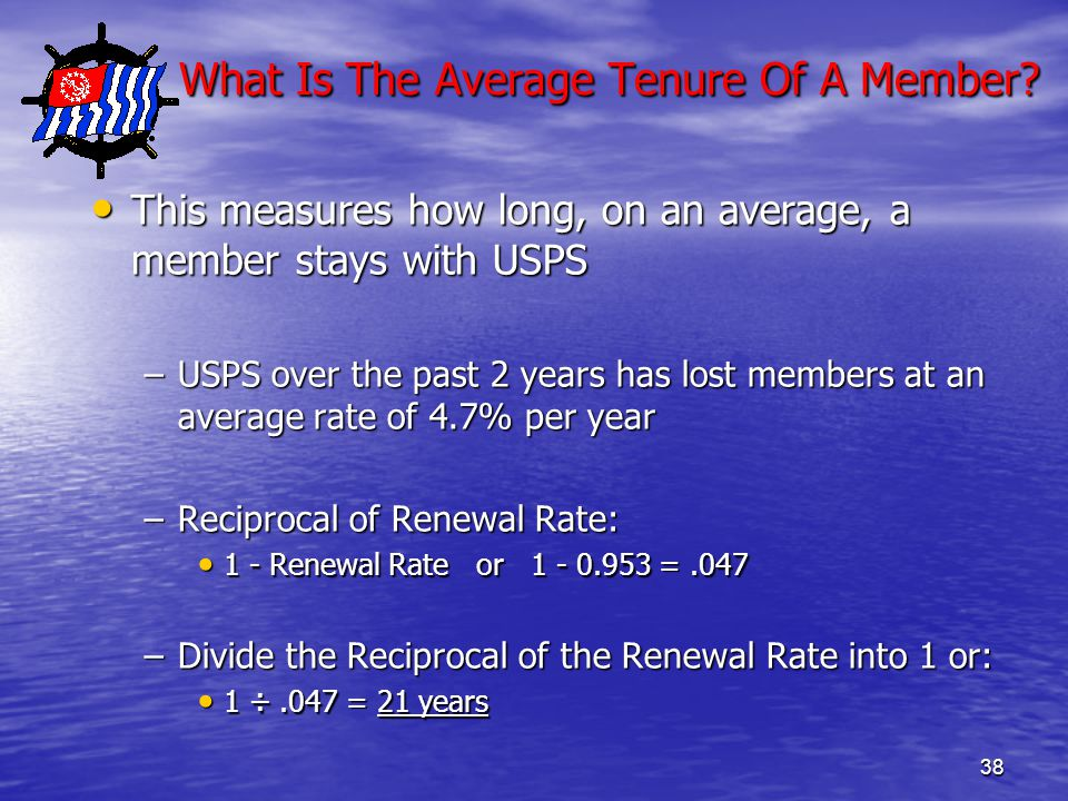 38 What Is The Average Tenure Of A Member. What Is The Average Tenure Of A Member.