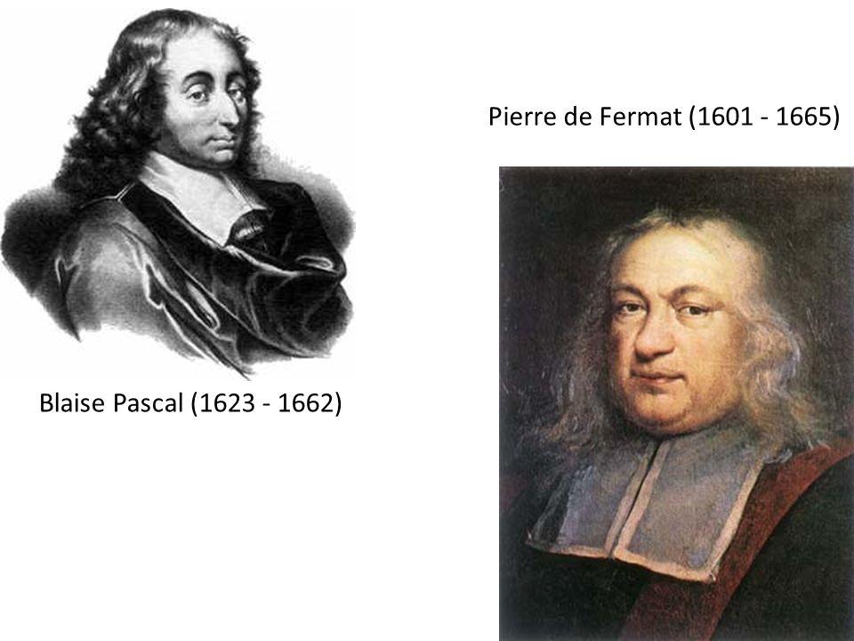Pierre de Fermat (1601 - 1665) Blaise Pascal (1623 - 1662)