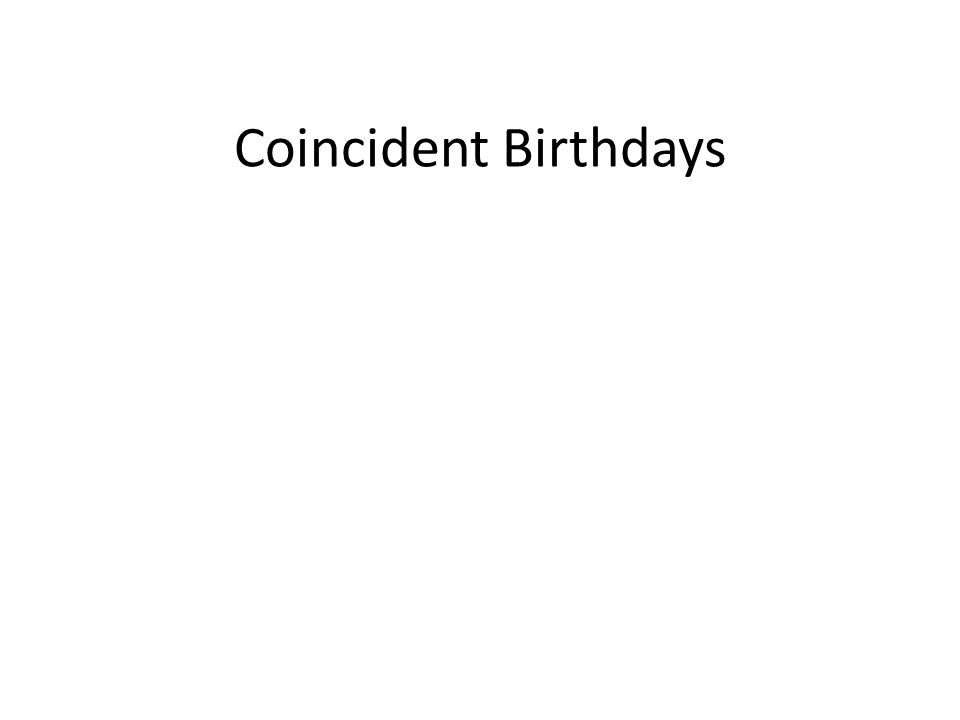 Coincident Birthdays