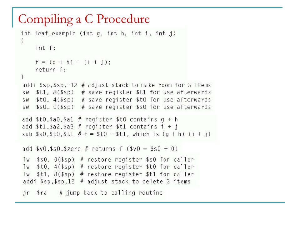 Compiling a C Procedure