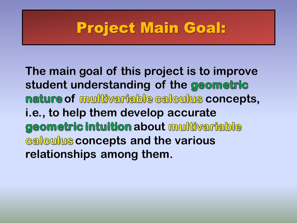 Project Main Goal: