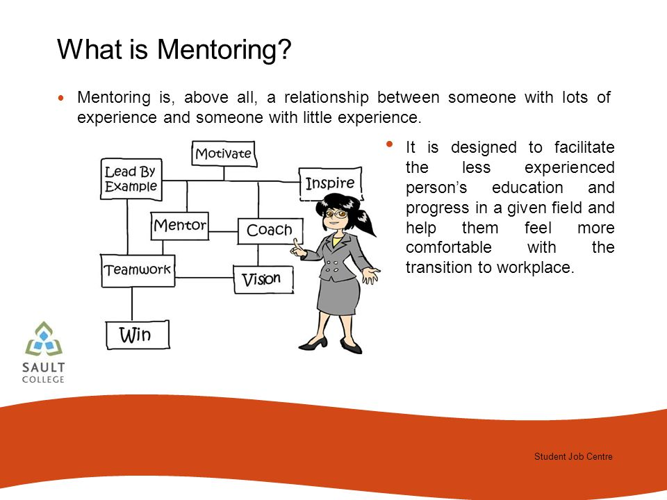 Student Job Centre 2012 Student Job Centre What is Mentoring.