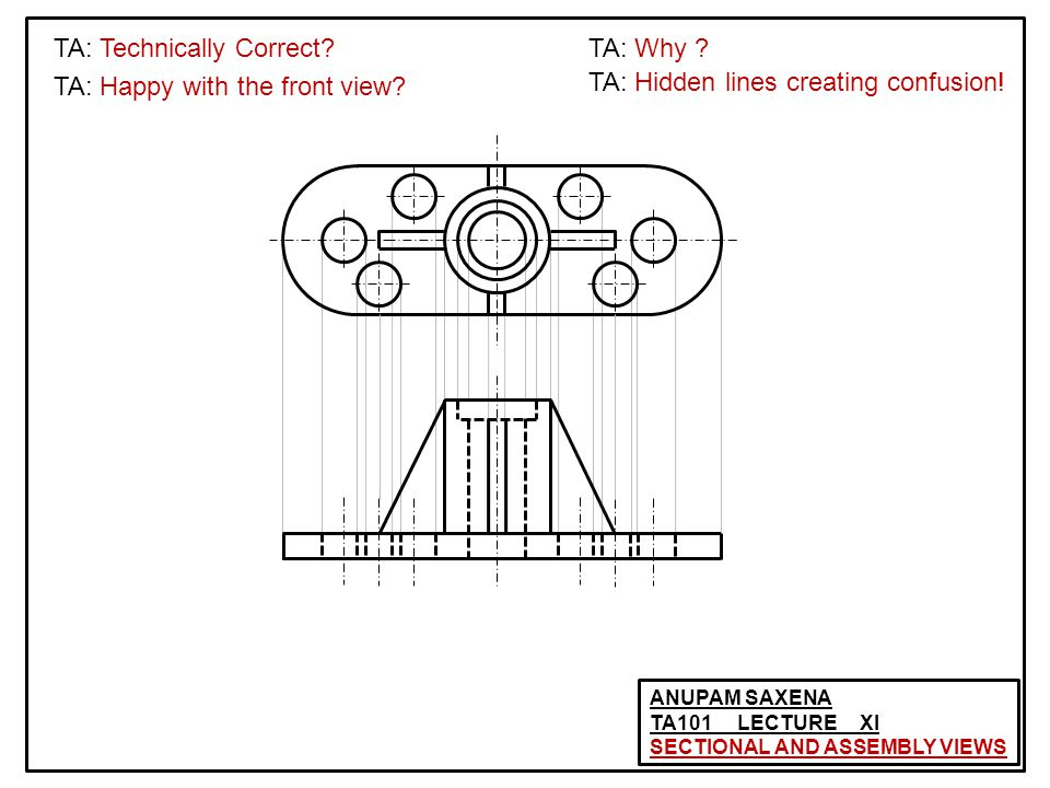 ANUPAM SAXENA TA101 LECTURE XI SECTIONAL AND ASSEMBLY VIEWS TA: Technically Correct.