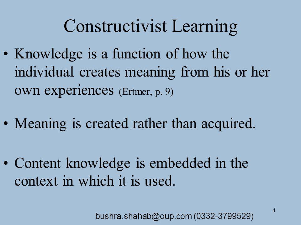 5 Constructivist Instruction Cont.