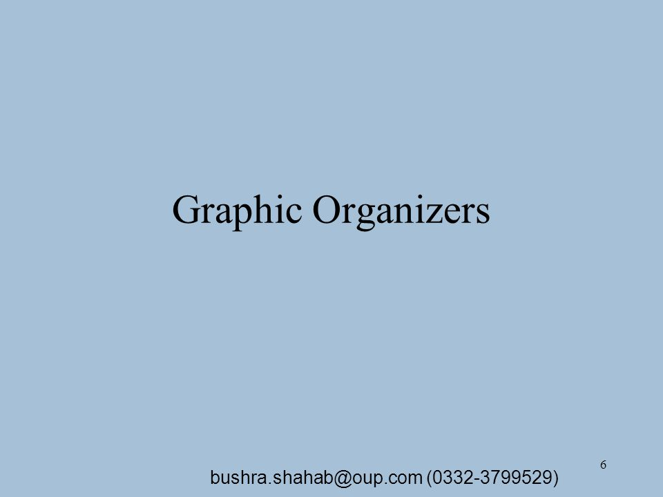 7 Graphic Organizers (GOs) A graphic organizer is a tool or process to build word knowledge by relating similarities of meaning to the definition of a word.