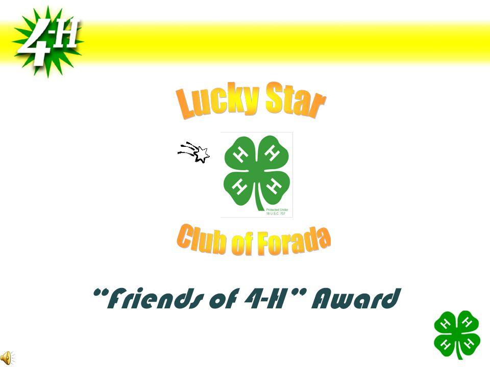 Friends of 4-H Award