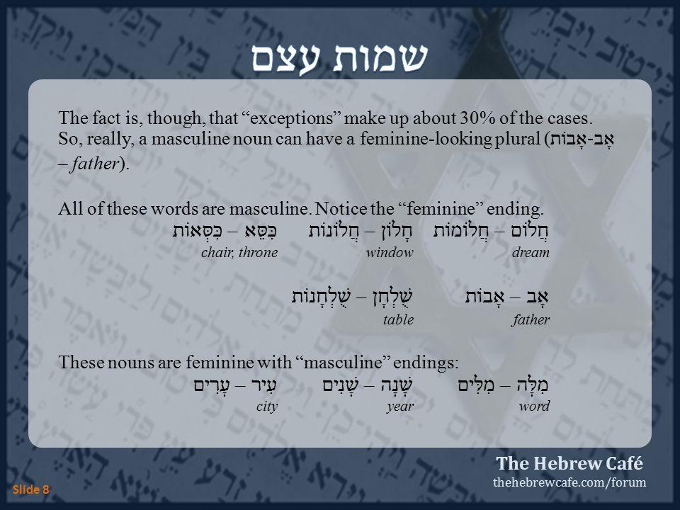 The Hebrew Café thehebrewcafe.com/forum Slide 19