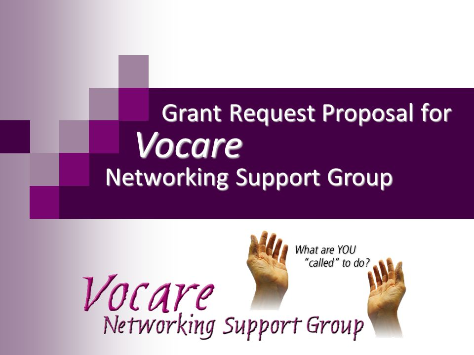 Grant Request Proposal for Vocare Networking Support Group