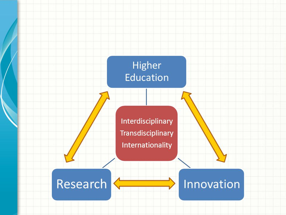 Interdisciplinary Transdisciplinary Internationality Higher Education Innovation Research