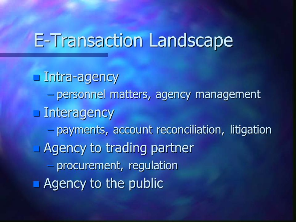 Statutory Bases: E-Signatures n Gov't Paperwork Elimination Act (98) –Technology neutral - select based on risk –But full recognition of dig sig strengths –Gives electronic signature full legal effect –Focus: transactions with Federal agencies n E-Sign in Global/Nat'l Commerce Act (00) –Covers B2B and B2C –Full legal effect if requirements are met