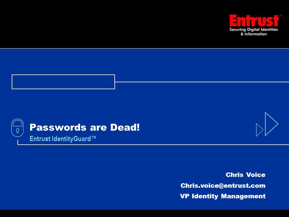 1 Passwords are Dead.