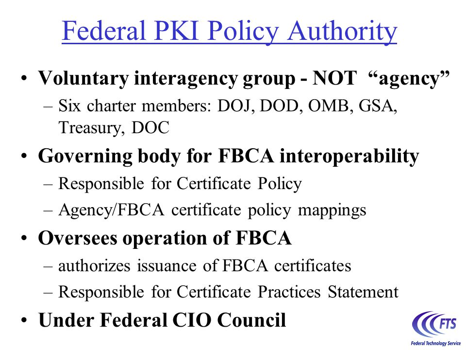 What will it take to use the FBCA.
