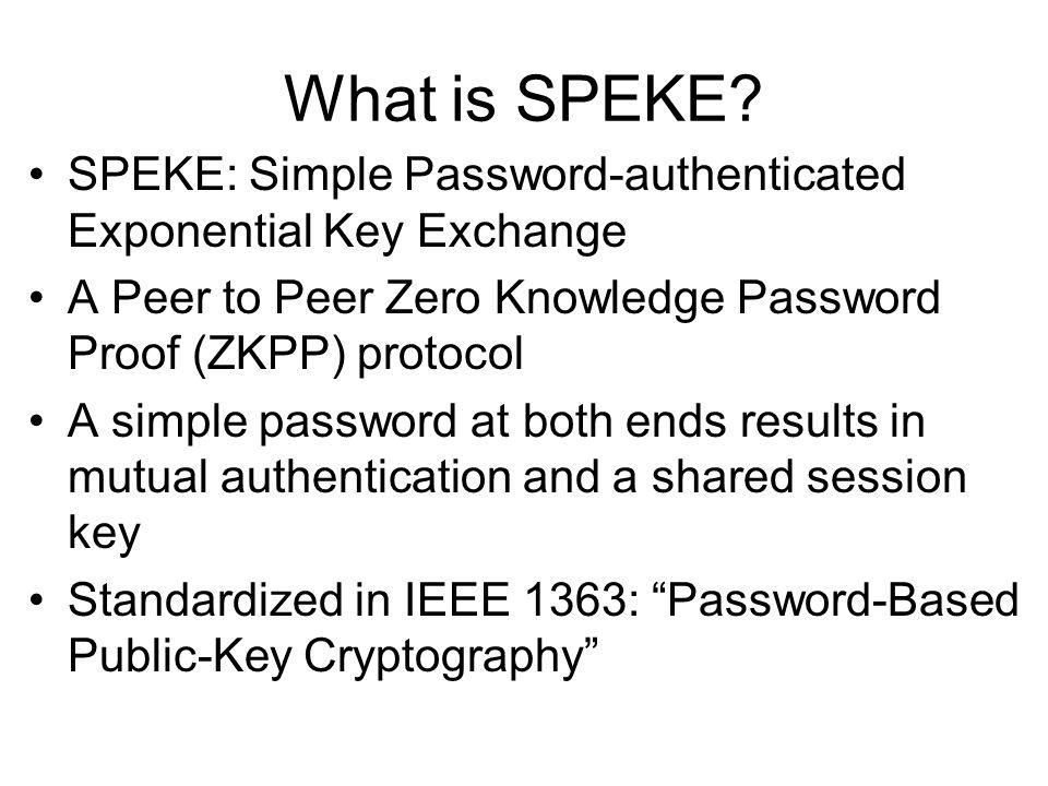 What is SPEKE.