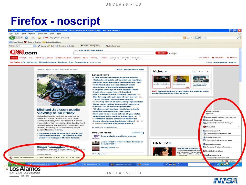 U N C L A S S I F I E D Firefox - noscript