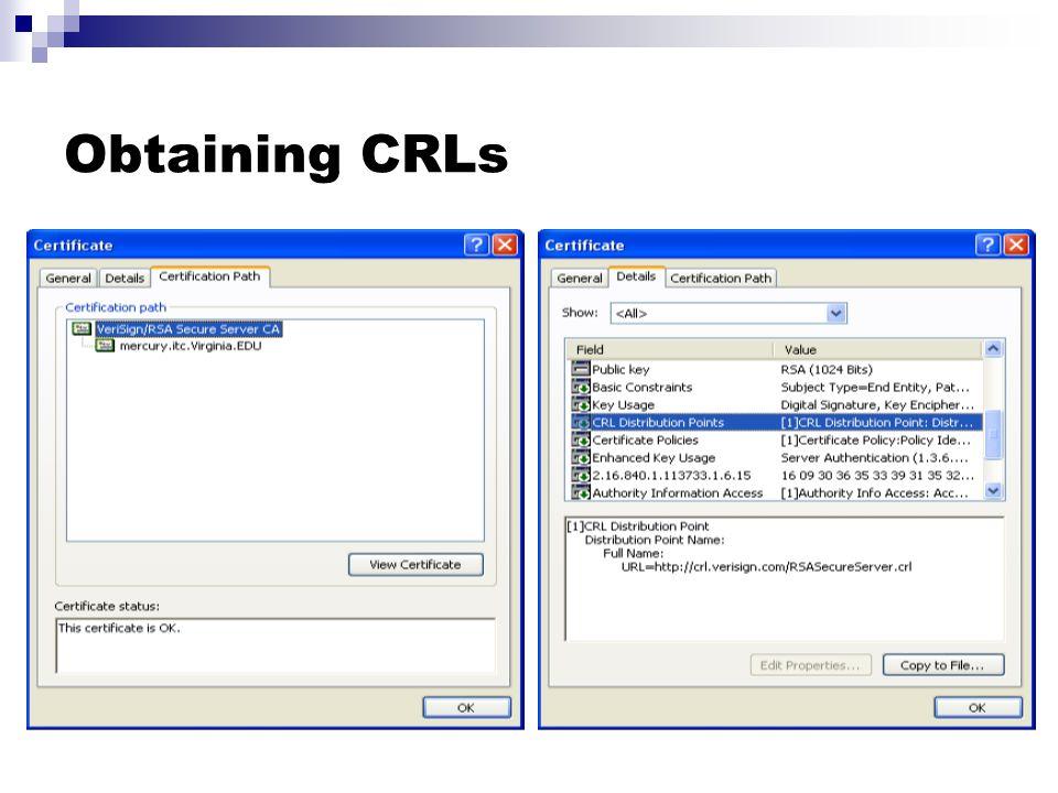 Obtaining CRLs