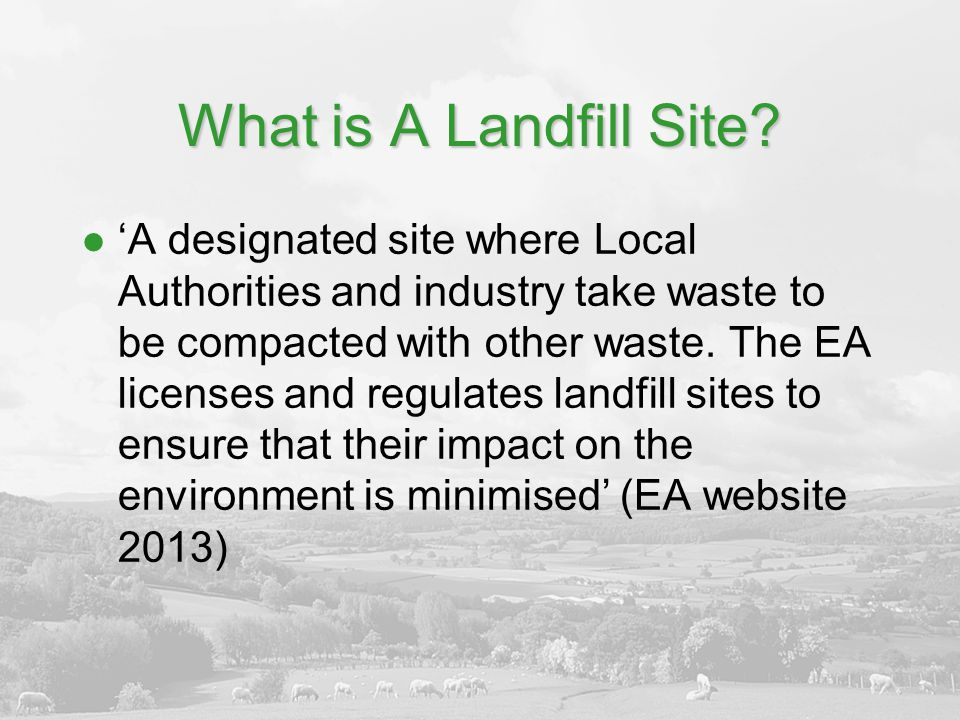 SITA Enhancing Communities Physical improvements to amenities and historic buildings Core Fund (up to £60,000/max size £250k/ 3 rounds per annum) Fast Track(up to £20,000/bi-monthly) Must be within 3 miles of SITA site and 10 miles of landfill site Need 11% third party contribution