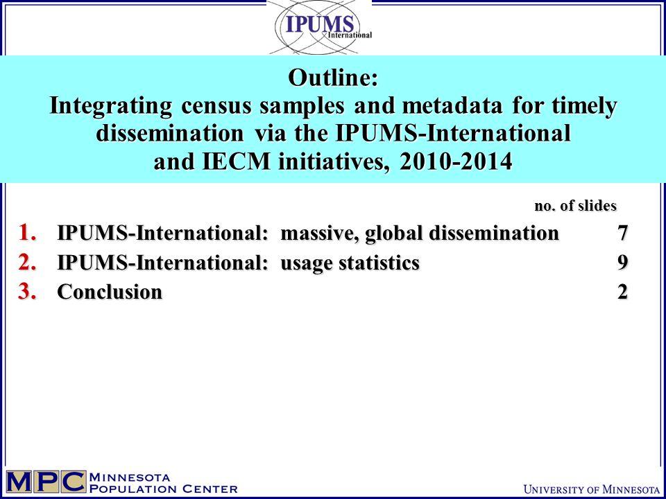 no. of slides no. of slides 1. IPUMS-International: massive, global dissemination7 2.