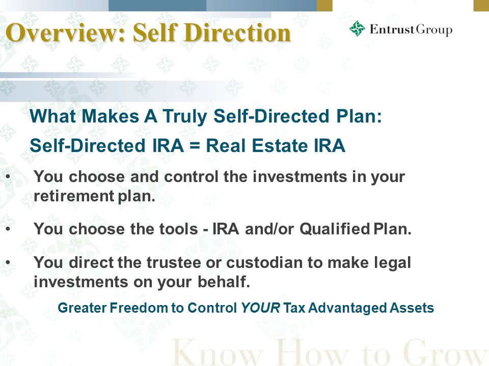You choose and control the investments in your retirement plan.