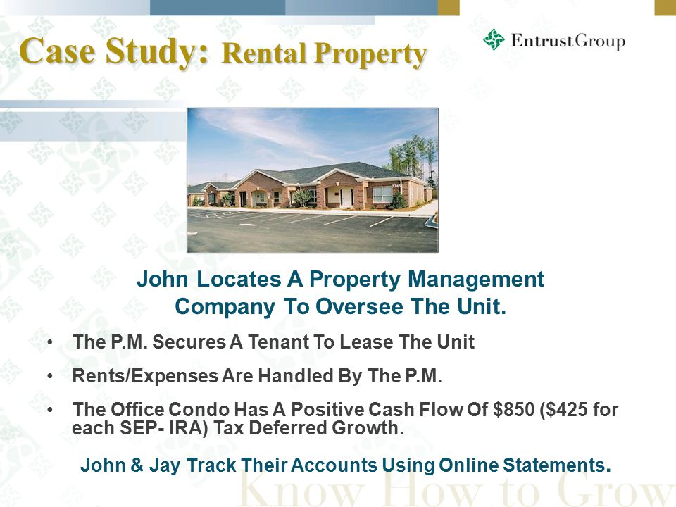 John Locates A Property Management Company To Oversee The Unit.