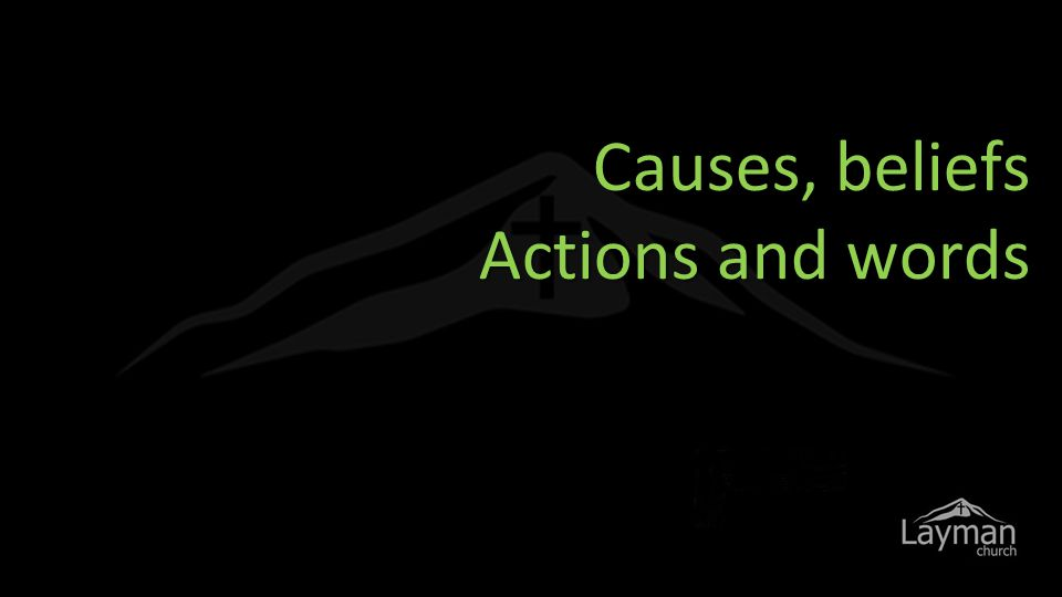 Causes, beliefs Actions and words Cognitive Dissonance