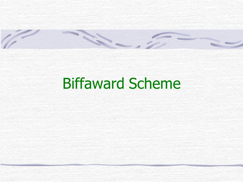 Biffaward Scheme