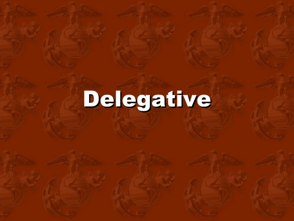 Delegative