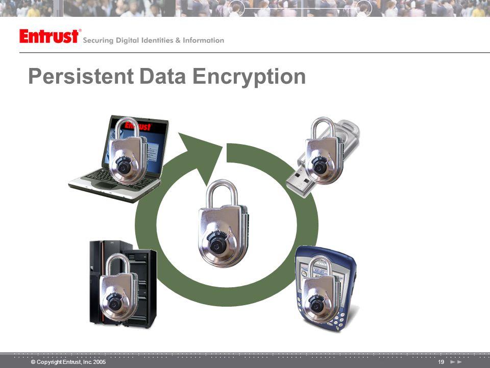 © Copyright Entrust, Inc. 200519 Persistent Data Encryption