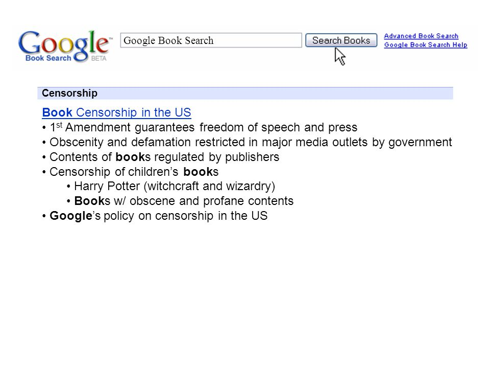 Google Book Search Table of Contents