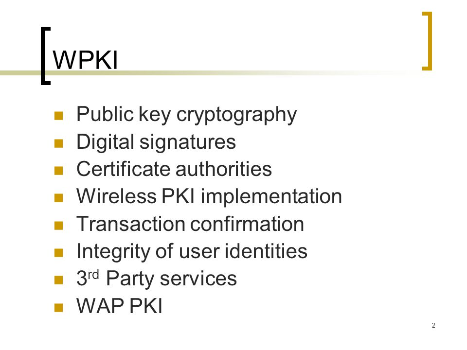 3 Public key cryptography RSA 非對稱密鑰密碼演算法  based on the difficulty 艱難 of factoring 因子分解  larger numbers  Used in digital signature 數位簽署 and key exchange 交換 operations 操作 DSA  Based on the difficulty of calculating discrete 離 散 logarithms  Used in digital signature Diffie-Hellman  Based on the difficulty of calculating discrete logarithms in the finite field  Used for key exchange only