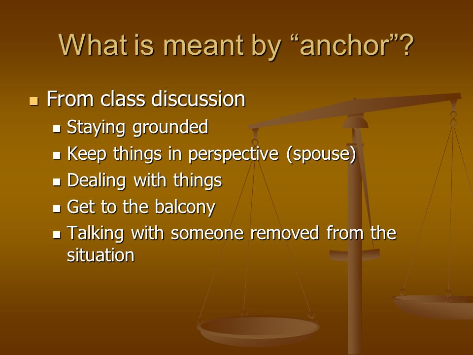 What is meant by anchor .