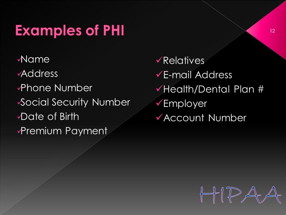 Name Address Phone Number Social Security Number Date of Birth Premium Payment Relatives E-mail Address Health/Dental Plan # Employer Account Number 12