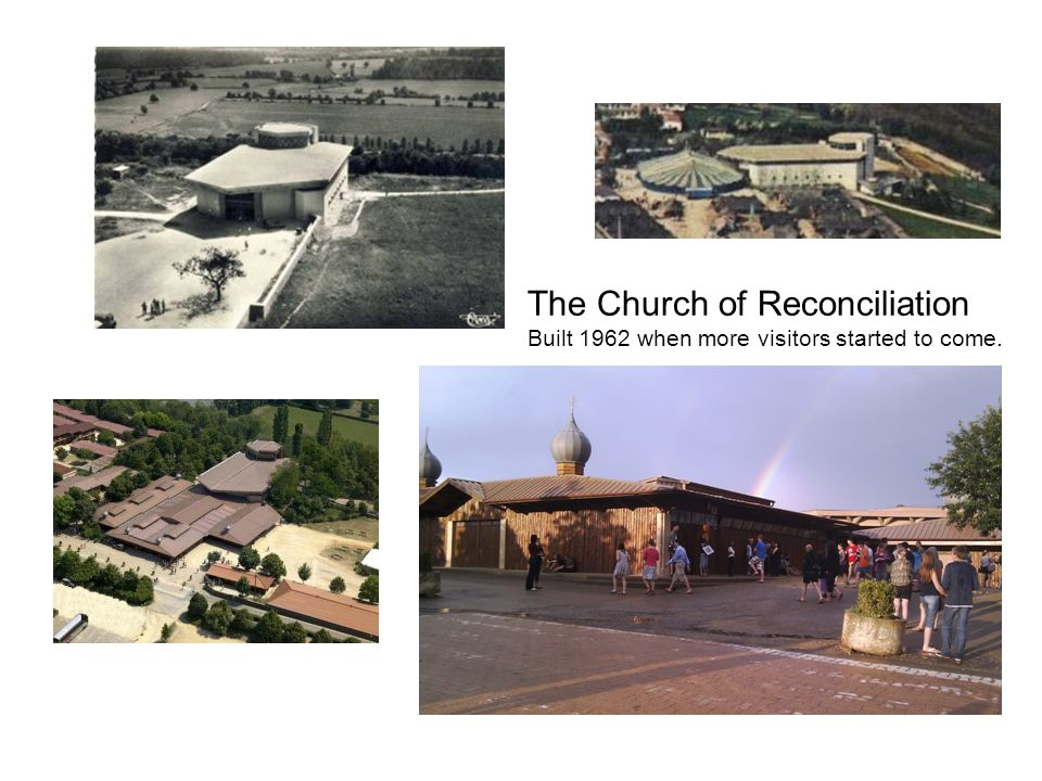 The Church of Reconciliation Built 1962 when more visitors started to come.