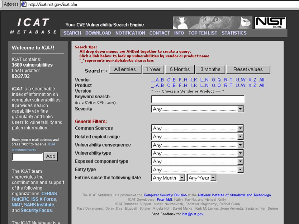SAA 1-03 -30 Agency Use of Checklists (1) The Act does NOT: –require agencies to select the specific settings or options recommended by the checklist for the system; –establish conditions or prerequisites for Federal agency procurement or deployment of any such system; –represent an endorsement of any such system by NIST ; nor –preclude agencies from procuring or deploying other computer hardware or software systems for which no such checklist has been developed.