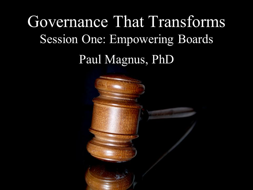 The Current Status of Governance and Board Governance