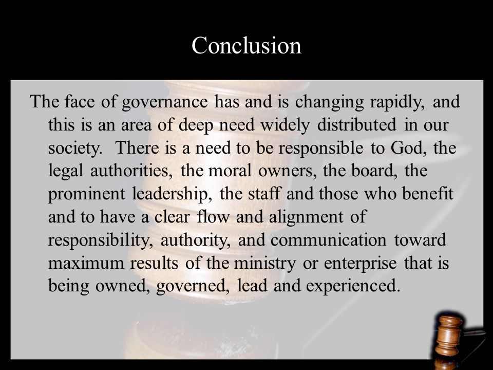 The face of governance has and is changing rapidly, and this is an area of deep need widely distributed in our society.