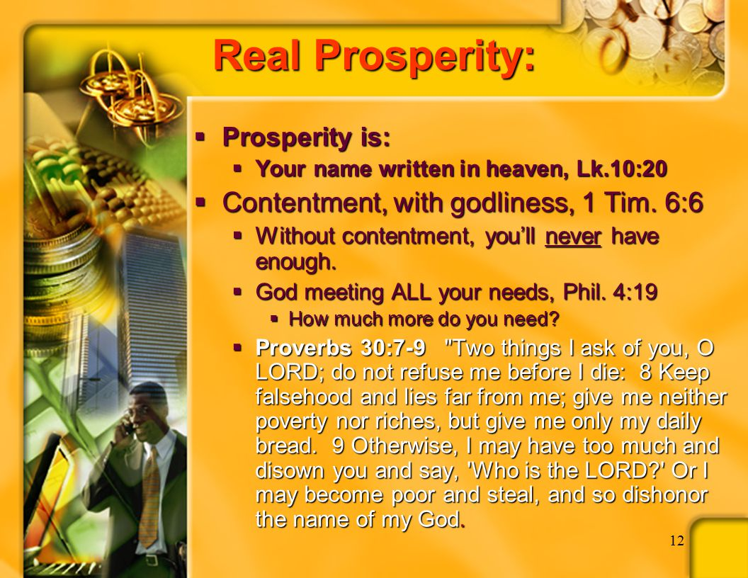 Wealth and Christians God blessed Abraham, Job, David, Solomon, Hezekiah, etc.